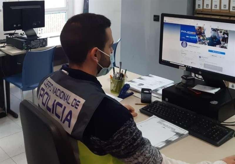 Un agente de la Policía Nacional. EFE/Policía