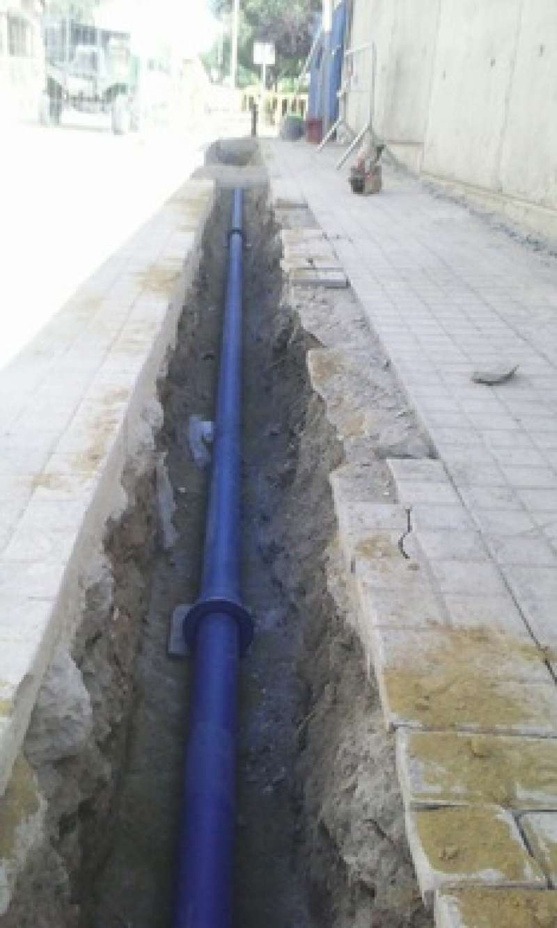 Obras en la calle Canónigo Fenollera