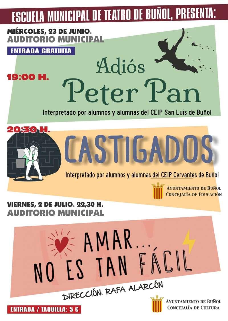 Los alumnos de teatro de los colegios públicos de Buñol celebran sus fines de curso la semana próxima