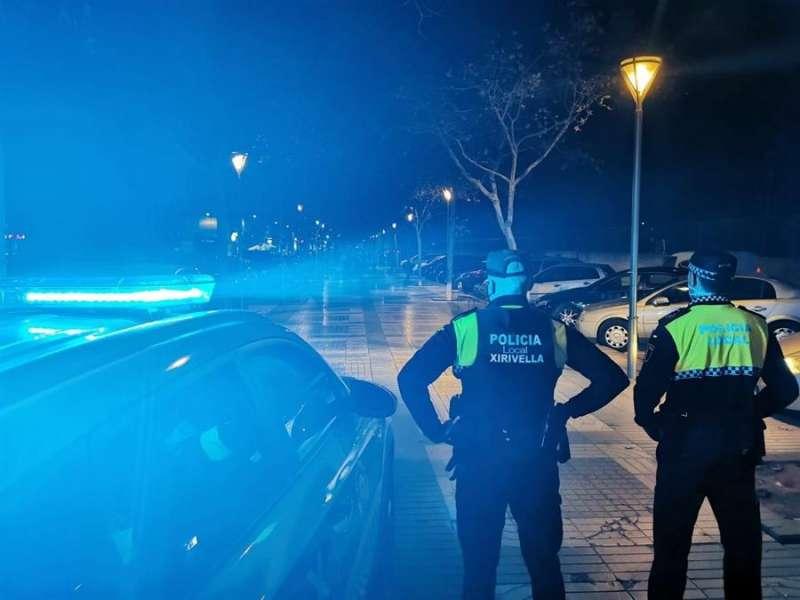 La Policía Local de Xirivella, en una imagen compartida en redes por el Ayuntamiento.