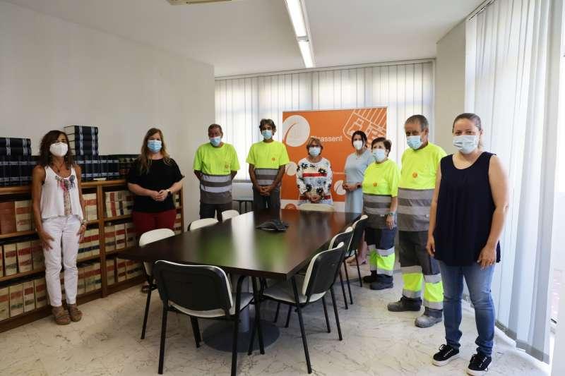 Treballadors a Picassent. EPDA