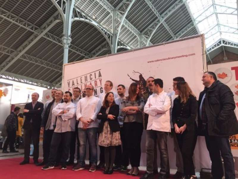La concejala Sandra Gómez ha presentado el festival Valencia Culinary Meeting. EPDA