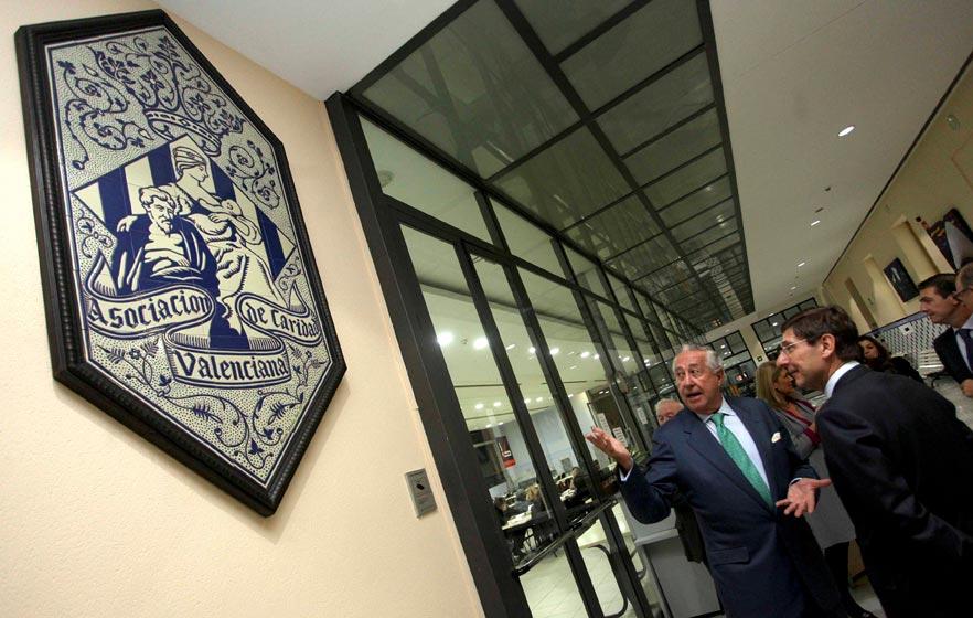 El presidente de la ex entidad valenciana, en Casa Caridad en Valencia. FOTO EPDA