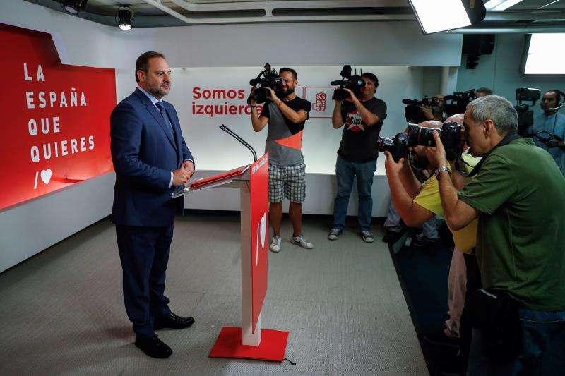 El secretario de Organización del PSOE y ministro de Fomento en funciones, José Luis Ábalos. EFE