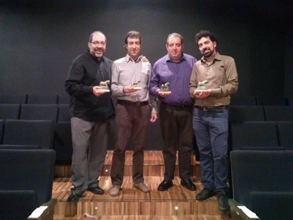 Entrega del premio a los hermanos Caballer. EPDA