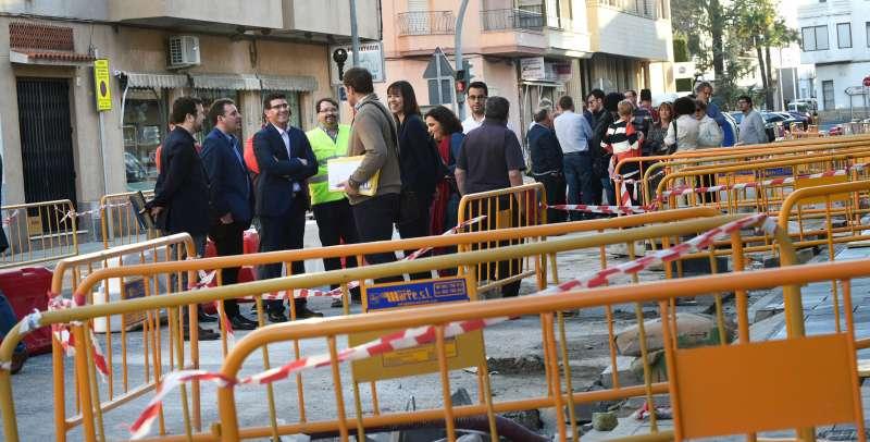 Jorge Rodríguez visita las obras de un municipio. EPDA