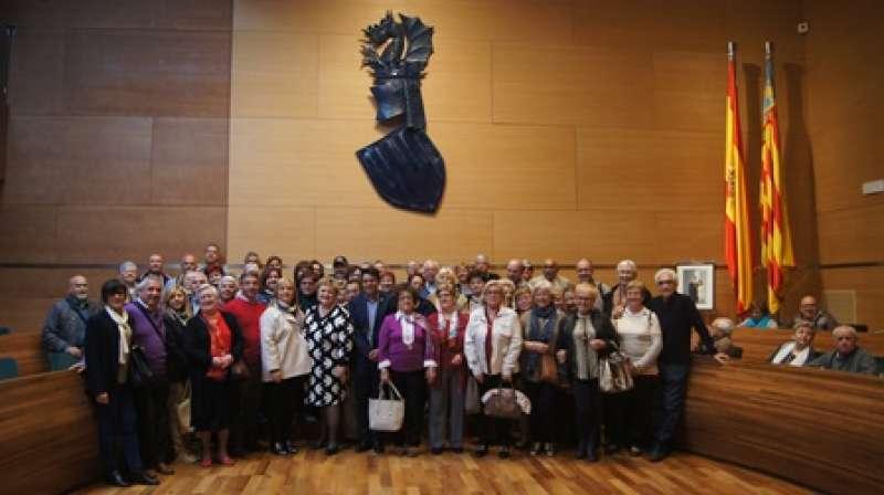 Vecinos de Olocau en la Diputación. EPDA