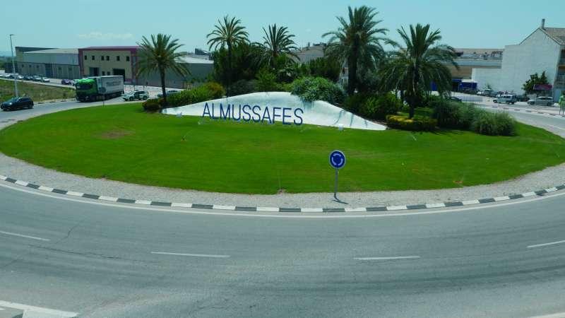 Foto rotonda Almussafes./Ajuntament Almussafes