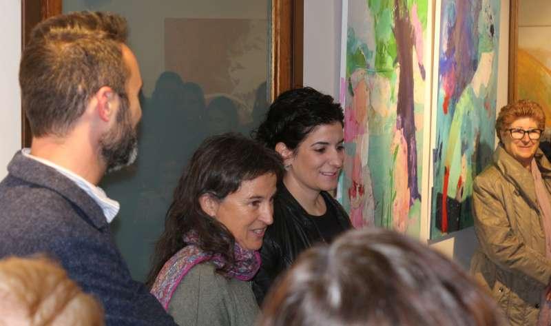 Cristina y Meluca en la inauguración