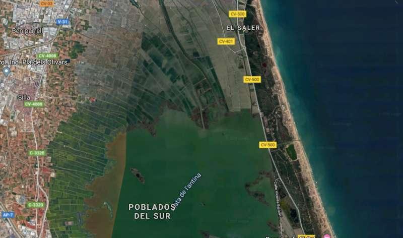 Mapa de la CV-500. EPDA