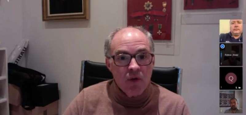 Fernando de Rosa, durante la entrevista.