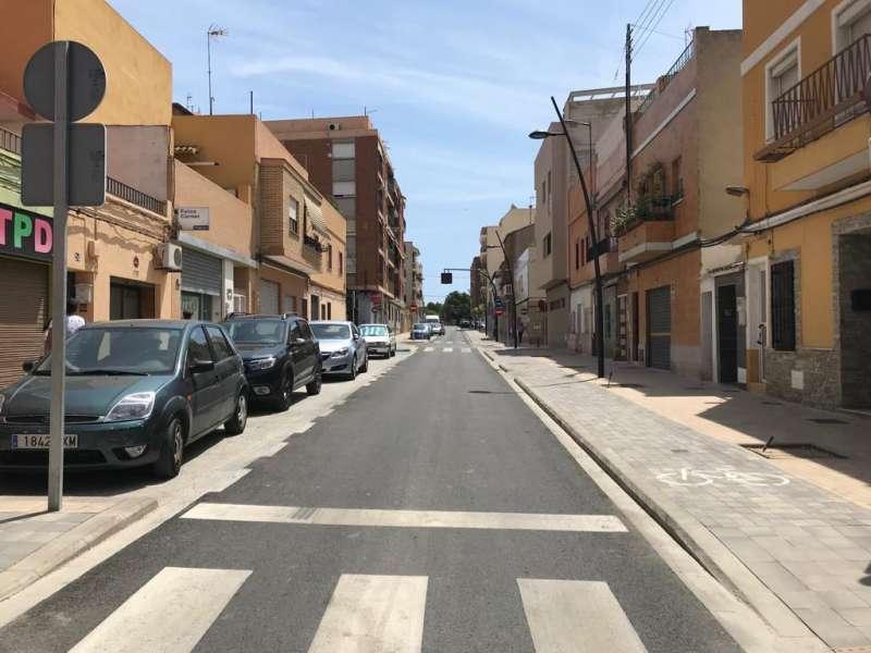 Calle de la localidad de Paterna.