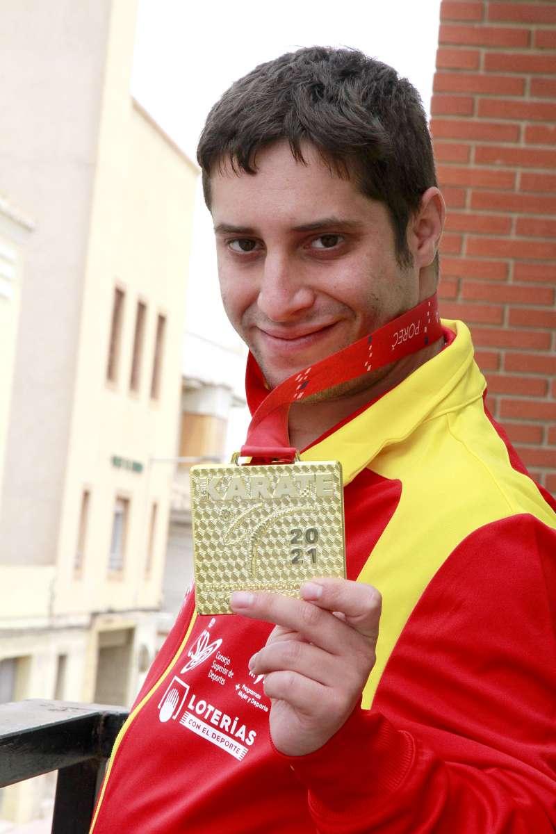 El campeón de Europa de parakárate, Carlos Huertas.