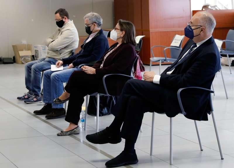 Momento del juicio, en una sesión