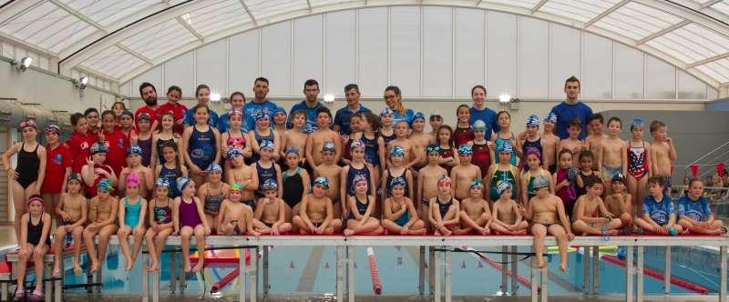 Nadadores del Club Natación Morvedre. EPDA