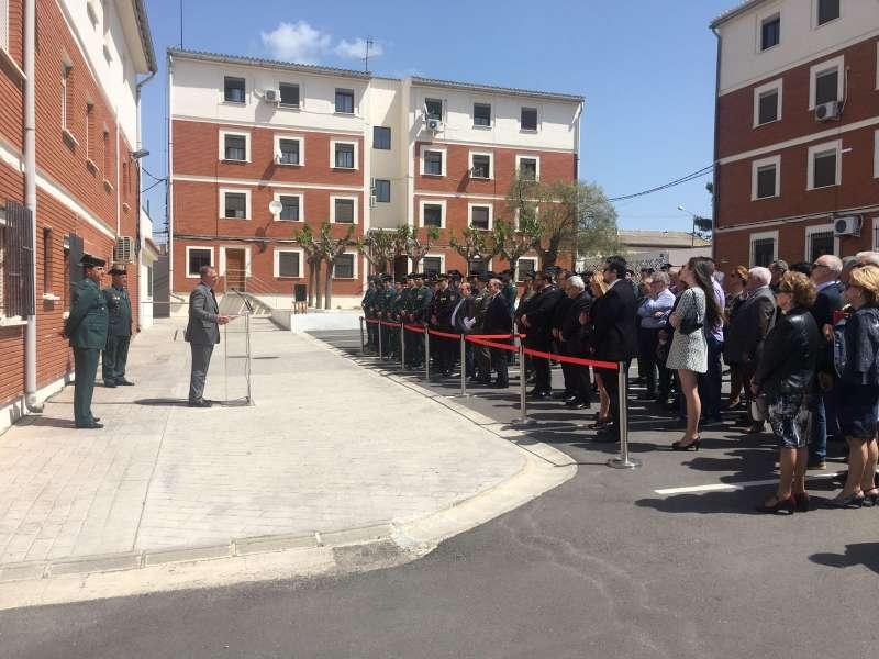Homenaje al capitán de la Guardia Civil fallecido en 2015 en Llíria.
