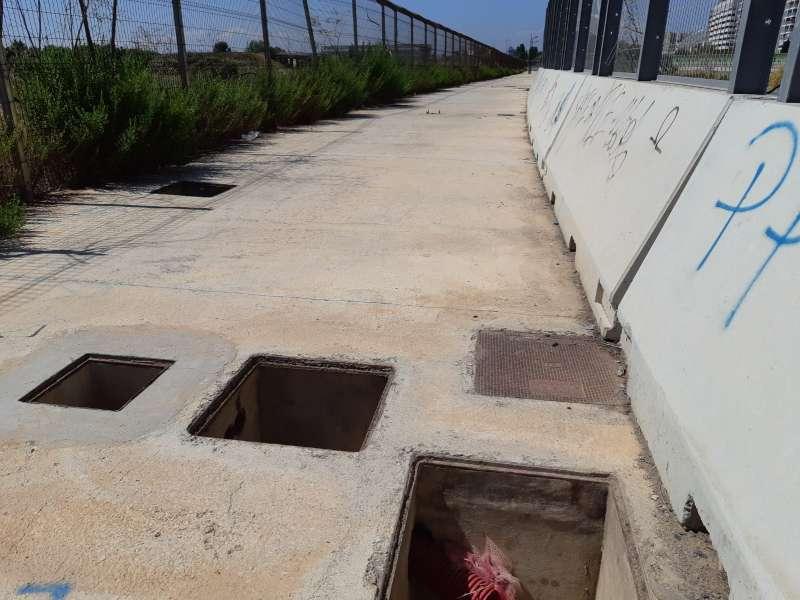 Puente peatonal del Cuc de la LLum. EPDA
