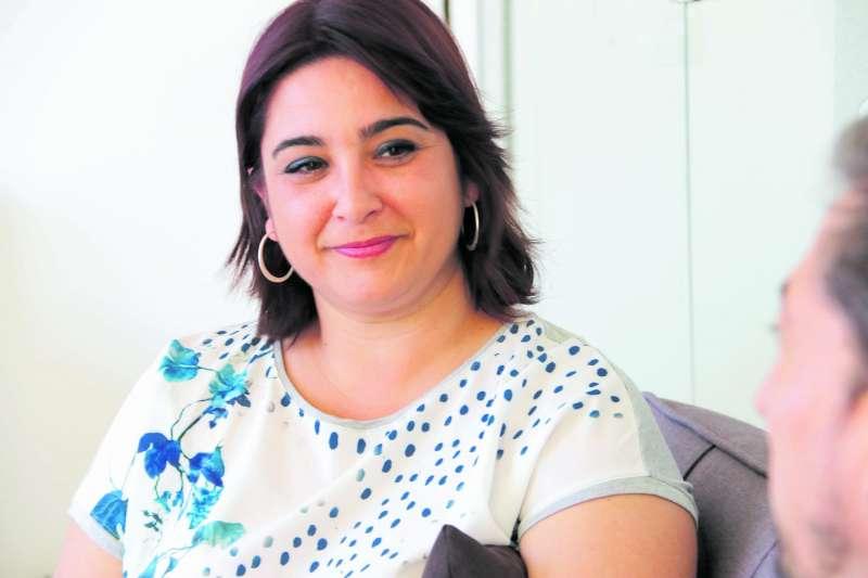 Natalia Antonino durante la entrevista. EPDA