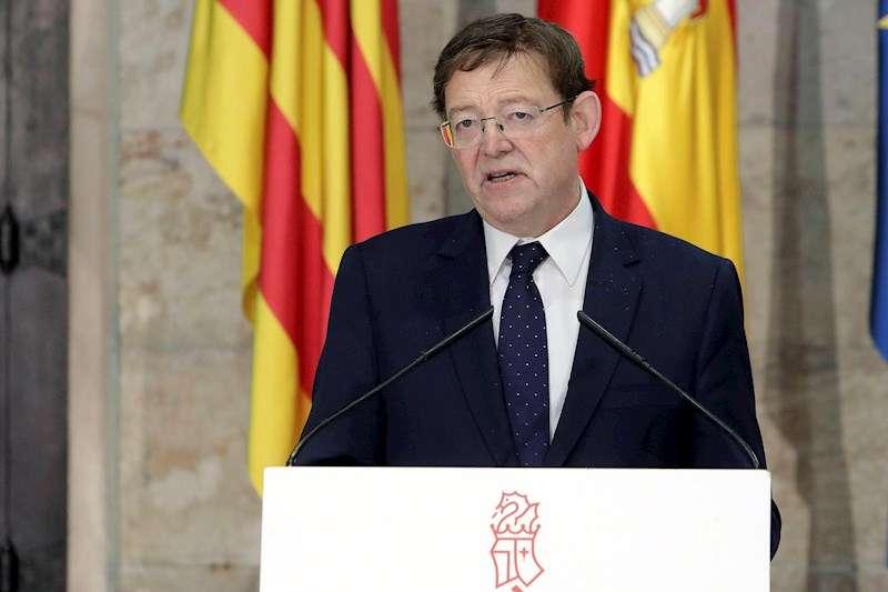 El president de la Generalitat, Ximo Puig, durante una comparecencia de prensa telemática. EFE