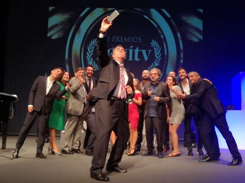 Gustavo González, en los I Premios Nacionales Aquí TV celebrados en Canet. FOTO EPDA