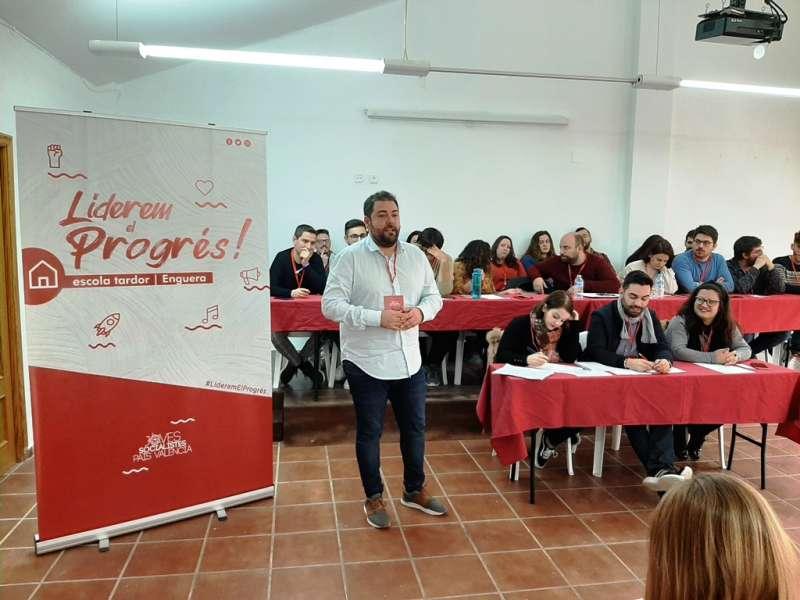 Fran López en el Comité Nacional de Joves Socialistes. -EPDA