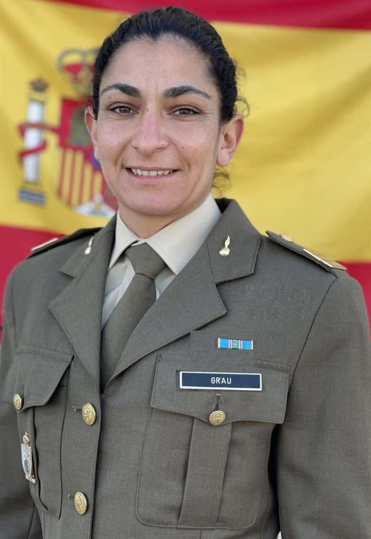 Imagen de Débora Grau difundida por el Ejército de TierraTWITTER EJÉRCITO DE TIERRA.