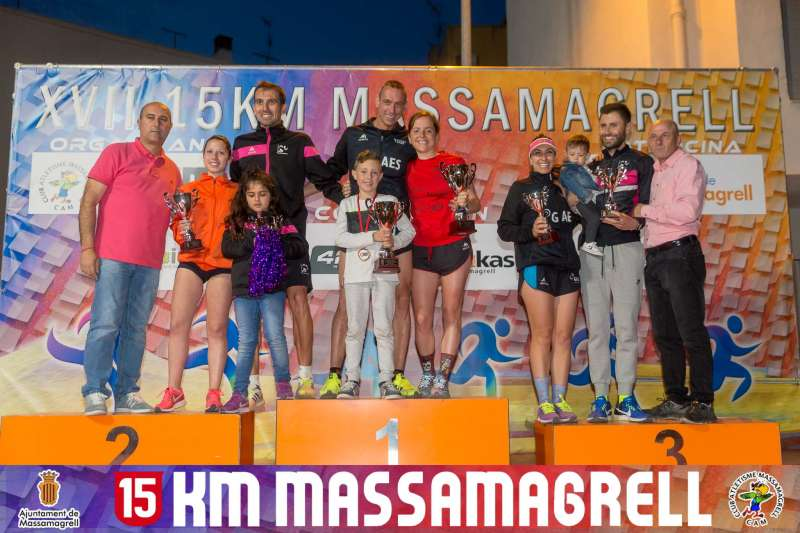 Ganadores locales del 15KM de Massamagrell. EPDA