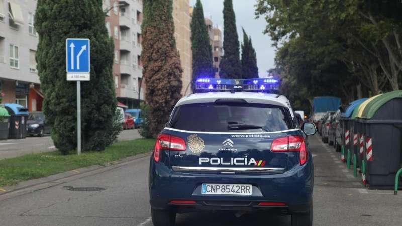 Imagen recurso coche policia de València. -EPDA