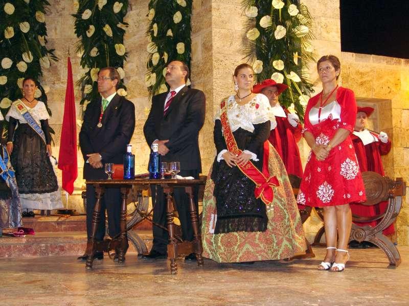 Fresneda en Segorbe como mantenedor de la reina de las fiestas en 2009