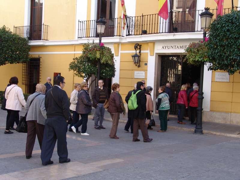 Visitando el Ayuntamiento de Segorbe