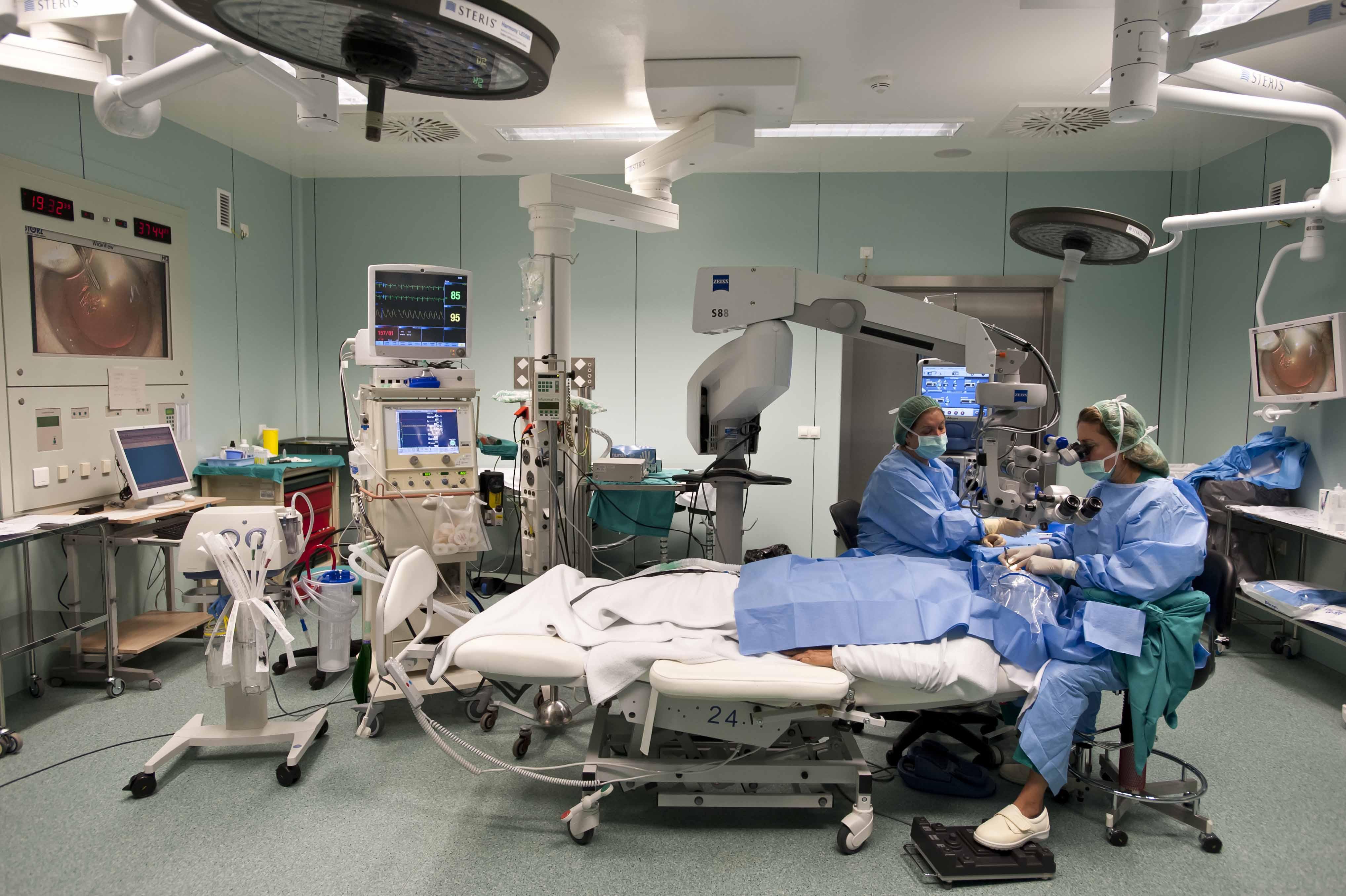 Quirófano de Oftalmología del Hospital La Fe de Valencia