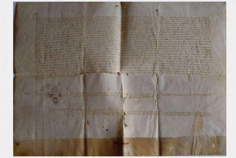 Documentos con simbología de Aragón, Sicilia y Luna