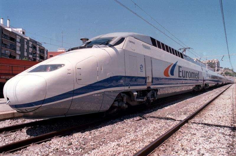 Imagen de un tren de alta velocidad, Euromed. EFE/Archivo