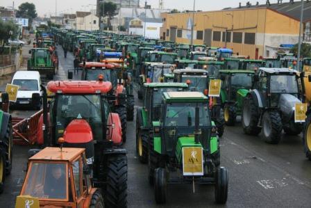 Tractorada celebrada esta mañana por AVA-ASAJA. EPDA