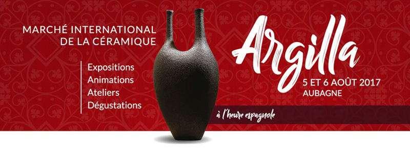 Cartell promocional de la fira de ceràmica en França