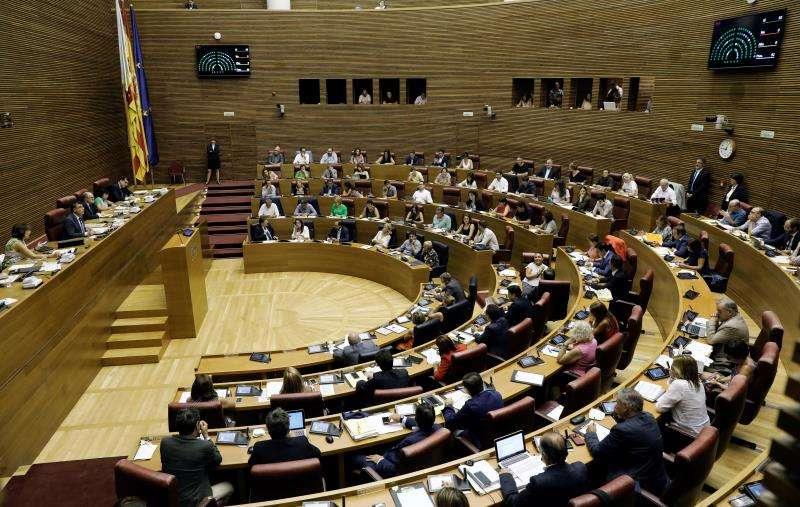 El pleno de Les Corts Valencianes. EFE/Archivo