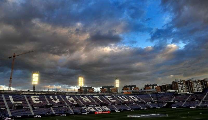 La grada del estadio Ciutat de València. EFE/Archivo