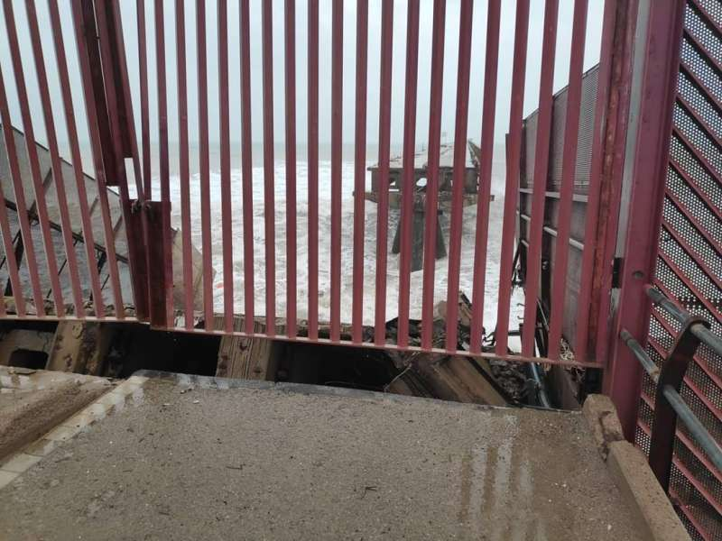 Imagen del Pantalán tras el derrumbe. EPDA