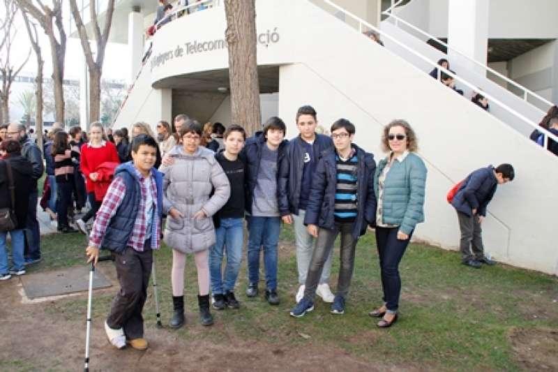 Alumnos en las jornadas matemáticas. EPDA