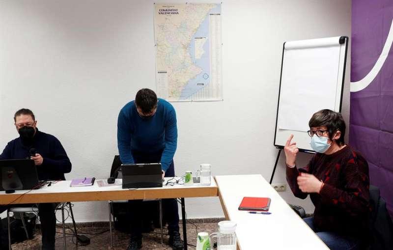 Rueda de prensa de Podem. EFE/Kai Försterling/Archivo