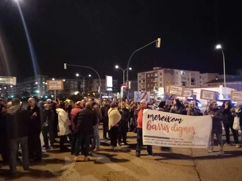 Manifestación de asociaciones vecinales. EPDA