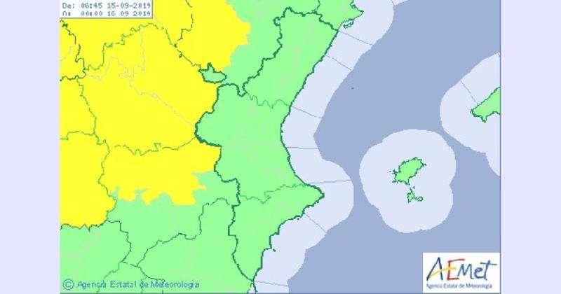 Mapa despejado de la Comunidad Valenciana.