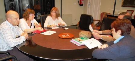 Junta de portavoces del equipo de gobierno municipal de la Vall d?Uixó. Foto EPDA