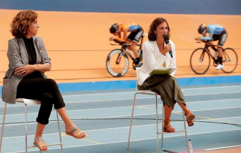 La presidenta del Consejo Superior de Deportes, Irene Lozano, y la presidenta de la Fundación Trinidad Alfonso, Elena Tejedor (d). EFE/Kai Försterling