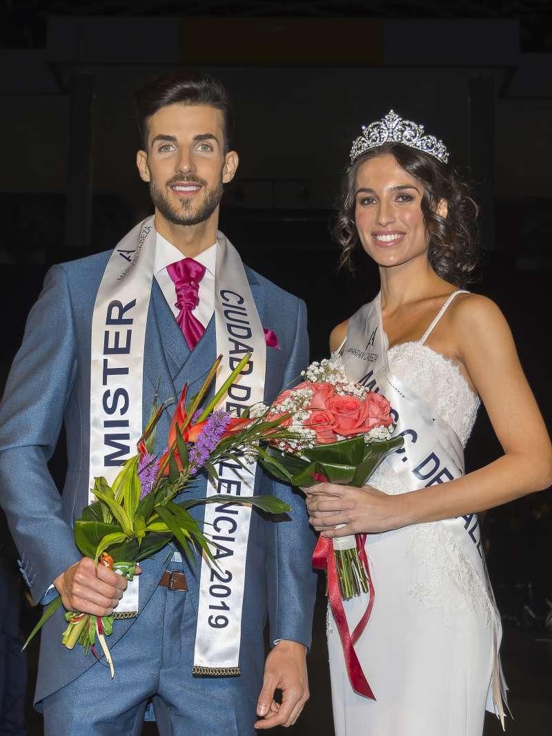 Rosa Nouvilas y Andrés Ogando flamantes Miss y Mr. Ciudad de Valencia 2019. -EPDA