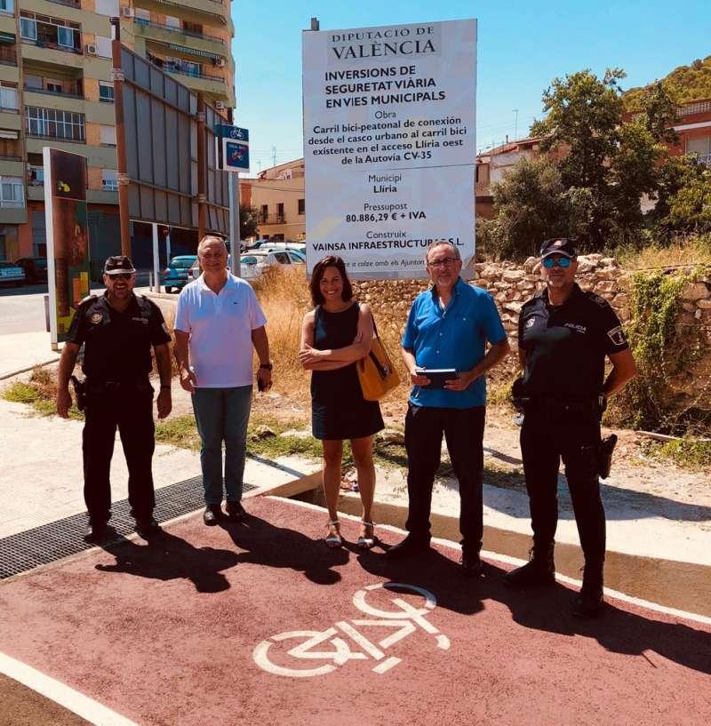 Finalizan las obras del nuevo carril bici que conectará con las urbanizaciones del noroeste de Llíria