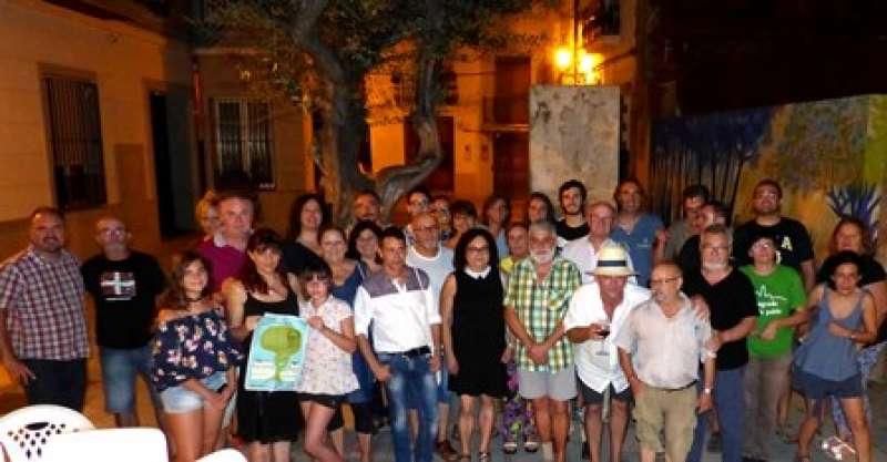 Algunes de les persones que varen participar al sopar. EPDA