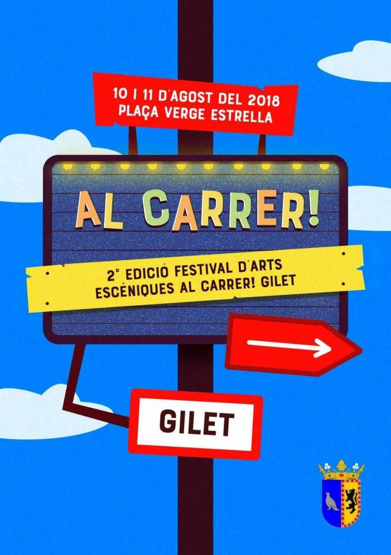 Cartell del II Festival d?Arts Escèniques de Gilet. EPDA