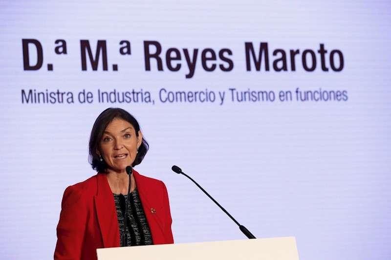 La ministra de Industria, Comercio y Turismo en funciones, Reyes Maroto. EFE/Archivo