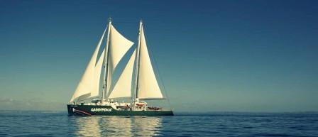 Imagen del buque insignia de Greenpeace, Rainbow Warrior. FOTO: EPDA